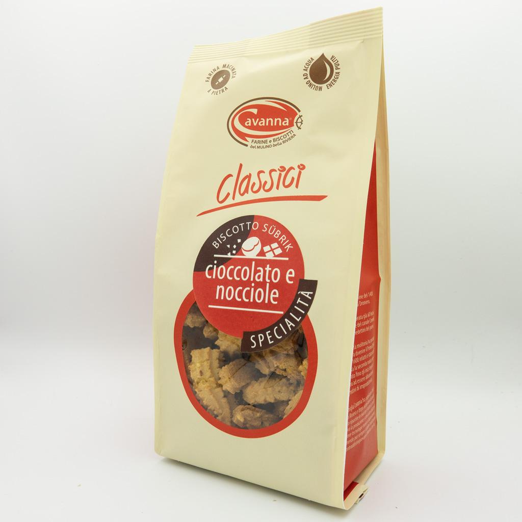 Biscotto Subrik al cioccolato e nocciola