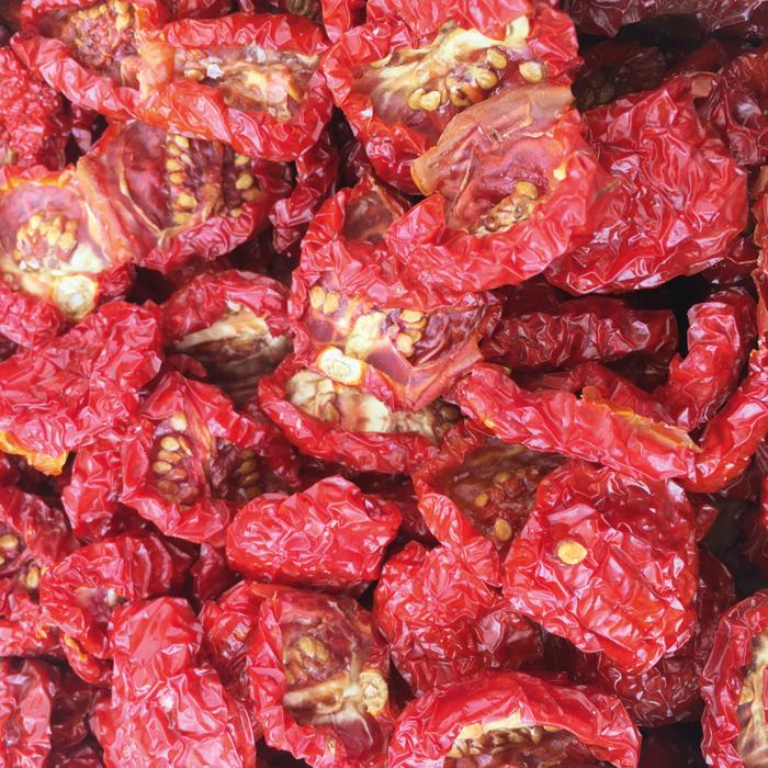 pomodori secchi tondi di Sicilia
